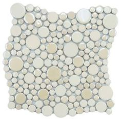 Cosmo Bubble Almond 11-1/4 in. x 12 in. Porcelain Mosaic Wall Tile-FSHCBBAL at The Home Depot