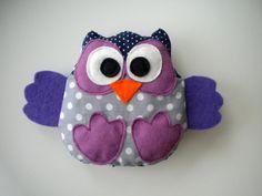stuffed soft owl toy handmade cotton perfect by handmadebykicia, $9.90