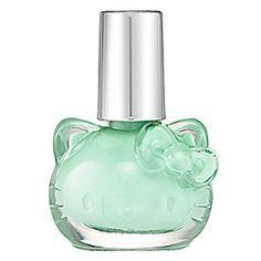 Oh hello little kitty! Hello Kitty Liquid Nail Art in Minty (opaque pastel mint green).