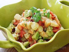 Zesty Lime Shrimp and Avocado Salad #lime #cilantro #shrimp #salad #avocado