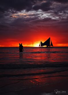 sunset in Boracay, Philippines Amazing Sunsets, Beautiful Sunset, Beautiful Beaches, Beautiful World, Exotic Beaches, Tropical Beaches, Davao, Cebu, Iloilo