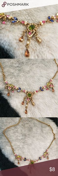 Elegant Necklace  Colorful and Chic Necklace  ◼No real diamonds  ◼No real pearls Accessories