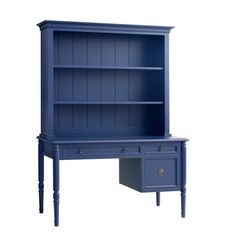 Image of Isabella Writing Desk w/ Hutch in Blueberry design by Redford House Painting Kids Furniture, Painted Bedroom Furniture, Shelf Furniture, Home Furniture, Furniture Hardware, Custom Furniture, Pull Out Shelves, Desk Shelves, Shelving
