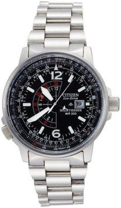 Citizen Men's BJ7000-52E Eco-Drive Nighthawk Stainless Steel Watch: Watches: Amazon.com