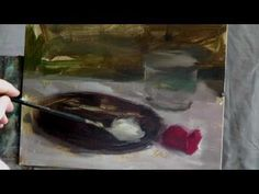 Two Roses Part 1 - Oil Painting Demo in HD