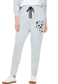 Gap Cropped Heart Logo Joggers in French Terry Women`s Active Bottom $40 NWT