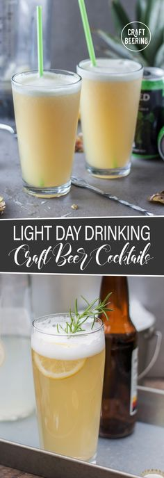 Beer Cocktails – Classic and Innovative Recipes & Tips Among craft beer cocktails there are definitely options suitable for 'day-drinking'. With minimal alcohol yet rich in flavor they beckon you:) - Fresh Drinks Beer Cocktail Recipes, Beer Recipes, Alcohol Recipes, Cocktail Drinks, Party Drinks, Beer Mixed Drinks, Mixed Drinks Alcohol, Drink Beer, Beer Cap Crafts