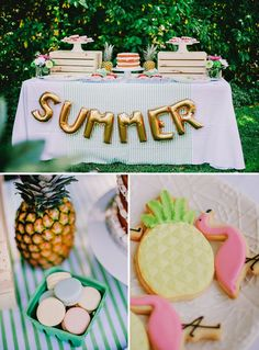 Colorful, Chic & Fruity SUMMER Kids Party // Hostess with the Mostess® kids summer party Toddler Approved!: Easy to Set Up Water Party for Toddlers and Preschoolers!Having a summer party that looks like a million bucks do. Party Fiesta, Festa Party, Bbq Party, Luau Party, Luau Theme, Farm Party, Party Drinks, Flamingo Party, Flamingo Birthday