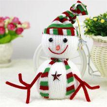 1 PCS do boneco de neve decoração de natal enfeites crianças bebê dos desenhos animados boneca animal de pelúcia brinquedos alishoppbrasil