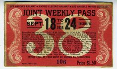 1938 Joint Weekly Pass Pacific Electric RR Los Angeles Railroad LA Motor Coach   eBay