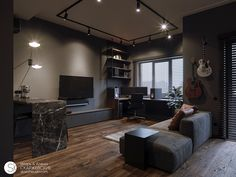 small room design for two boys Small Apartment Design, Small Room Design, Home Room Design, Home Office Design, Apartment Interior, Small Apartments, Apartment Living, Home Interior Design, Living Room Designs