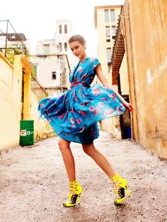 """Ihappened to stumble across Elle Turkeys amaaazing Spring fashion editorial called """"fashion gone rogue"""". Just love the bright vibrant print..."""