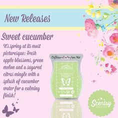 Sweet Cucumber new Scentsy wax #ScentsyBar #ScentsyNewReleases #ScentsyCatalog2016 #WaxMelts #Scentsy UK, #Scentsy Ireland #ScentsyFrance #ScentsySpain #ScentsyRegion2 #ScentsyGermany