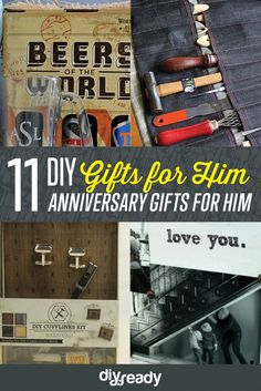 10 DIY Anniversary Gifts for Him | Easy Handmade Gifts That Will Melt His Heart by DIY Ready at http://diyready.com/10-diy-anniversary-gifts-for-him/