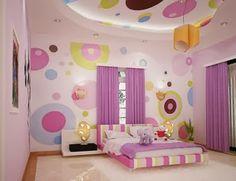 quarto morado meninas quarto e sala