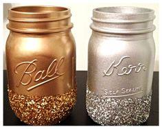 Glittery+Mason+Jar++Wedding+Decor+by+DillyDallyDreams+on+Etsy,+$7.00