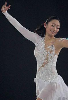 Miki Ando, White Figure Skating / Ice Skating dress inspiration for Sk8 Gr8 Designs.