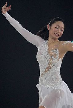 Miki Ando, White Figure Skating / Ice Skating dress inspiration for Sk8 Gr8 Designs.