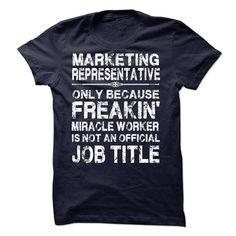 Marketing Representative - #tshirt frases #sweatshirt print. SATISFACTION GUARANTEED => https://www.sunfrog.com/LifeStyle/Marketing-Representative-59537282-Guys.html?68278