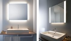 Duravit expands on its series of lighted mirrors for the bathroom with two additions: one that features four-way indirect ambient lighting (on left) and a second that has dual-light fields...