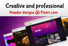 design website banner and header professionally by wadheanand