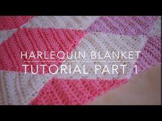 CROCHET: Harlequin / Diamond blanket part 1 | Bella Coco - YouTube