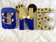 Royal Prince Mickey letters birthday Royal blue and gold letters Milestone First birthday Royal Prince baby shower Prince Birthday Theme, 1st Birthday Boy Themes, Mickey 1st Birthdays, Baby Boy 1st Birthday Party, Mickey Mouse 1st Birthday, Mickey Party, Elmo Party, Elmo Birthday, Dinosaur Party