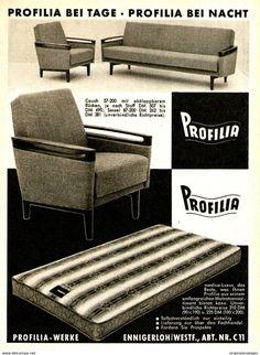 Original-Werbung/ Anzeige 1962 - PROFILIA MÖBEL / ENNIGERLOH - Ca. 120 X 170  Mm - Werbung