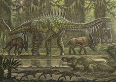 Asperdorsus bellator (king kong) by ABelov2014 on DeviantArt Prehistoric Dinosaurs, Prehistoric Creatures, Mythological Creatures, King Kong Skull Island, All Godzilla Monsters, Creature Drawings, Jurassic Park World, Dinosaur Art, Painting Wallpaper