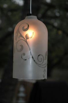 Ivy Vine Upcycled Wine Bottle Light by anSomethinelse on Etsy, $40.00