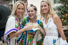 Kelly Parker, Lucy Wrubel & Allyson Greenfield at The Joule Hotel | Forty Five Ten, a cutting-edge boutique, located on McKinney Avenue in Dallas, Texas, invited five talented Mexican designers to showcase their design works and collections on Cinco de Mayo! Mexico's culture & vibrant colors were celebrated with the featured cocktail, Honey Dragon Margarita, made with Casa Dragones Tequila White, and select guests enjoyed a memorable evening filled with fashion & fun not to be missed!