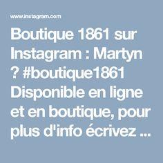 Boutique 1861 sur Instagram: Martyn 🌷 #boutique1861 Disponible en ligne et en boutique, pour plus d'info écrivez le nom de la robe dans la barre de recherche sur…