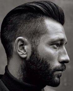 la coiffure homme dégradée - côtés rasés,longueur sur le dessus