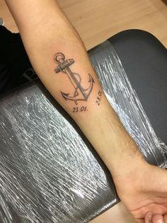#men #tattoo #anker #austria #arm