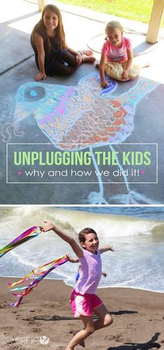 Unplugging the kids- why and how we did it. Great ideas for parenting and uniting the whole family.