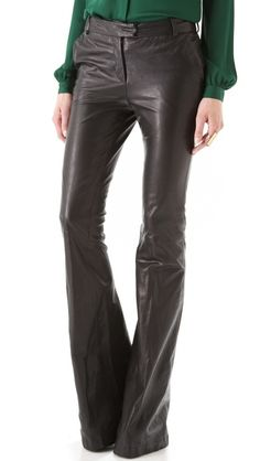 Rachel Zoe Hutton Leather Pants>> awesome flared leg.