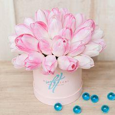 Нежно-розовые тюльпаны в коробке Baby
