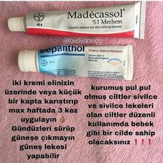Madecassol krem ve bepanthol krem faydaları - Health and wellness: What comes naturally Good Skin Tips, Healthy Skin Tips, Skin Care Tips, Beauty Care, Beauty Skin, Health And Beauty, Diy Beauty, Face Beauty, Beauty Ideas