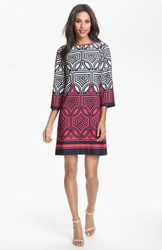 Eliza+J+Print+Shift+Dress+available+at+#Nordstrom