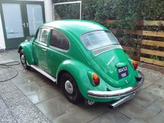 Left side of my Aircooled VW Beatle (Kever) 1968 , before restoration.