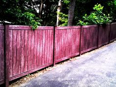Walnut Vinyl Privacy Fencing