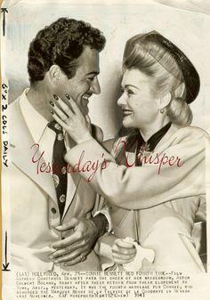 Constance Bennett with 4th husband Gilbert Roland.