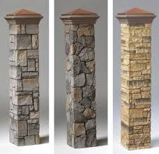 love the column ideas for the deck to match the front stone and stone on the fire place