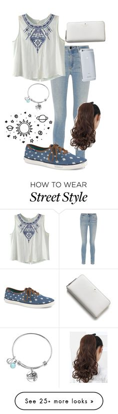 """Blue & Leather"" by summerloveforever335 on Polyvore featuring Alexander Wang, Keds, Kate Spade and Goldgenie"