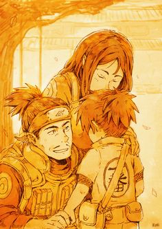 Umino Iruka and parents