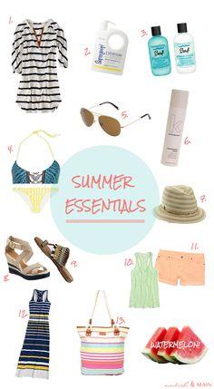 summer & beach essentials
