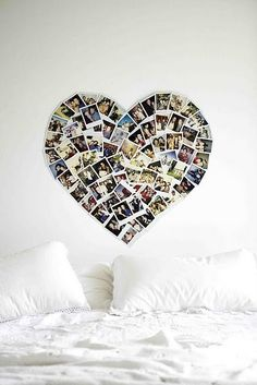 Cute way to display your favorite pictures - in the shape of a heart. This inspired me to form a tree of my personal favorites.