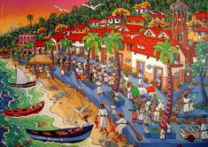 Local Puerto Vallarta artist Ada Colorina and her lovely painting El Malecón de Ayer (the Malecon of yesterday) from the Galeria Corsica.