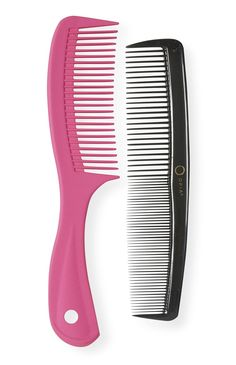 Primark 2 pack of combs for £1 - Great for splitting into two (pink for girls boxes 5-9 or 10-14) and (black for boys 5-9 or 10-14)