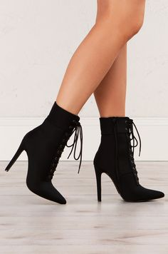Lace Up Open Front Fabric Stiletto Booties in Black, Grey, Taupe, Olive, Wine - Livia Belt Thigh High Boots, High Heel Boots, Heeled Boots, Shoe Boots, Shoes High Heels, Lace Up Heel Boots, Bootie Heels, Stiletto Boots, Heeled Sandals